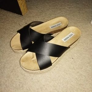 Steve Madden Amour Black Platform Sandal